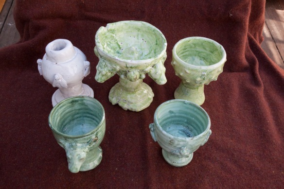 goblets in a group