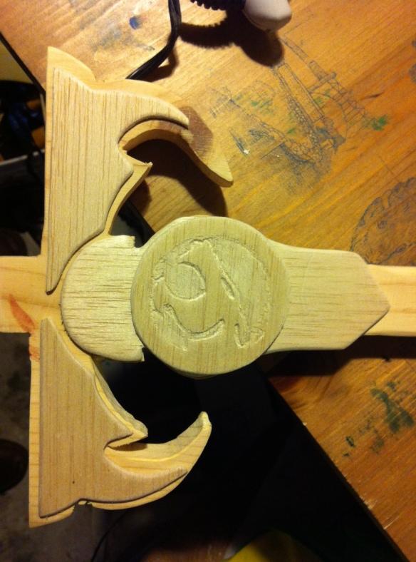 wooden thundercats emblem