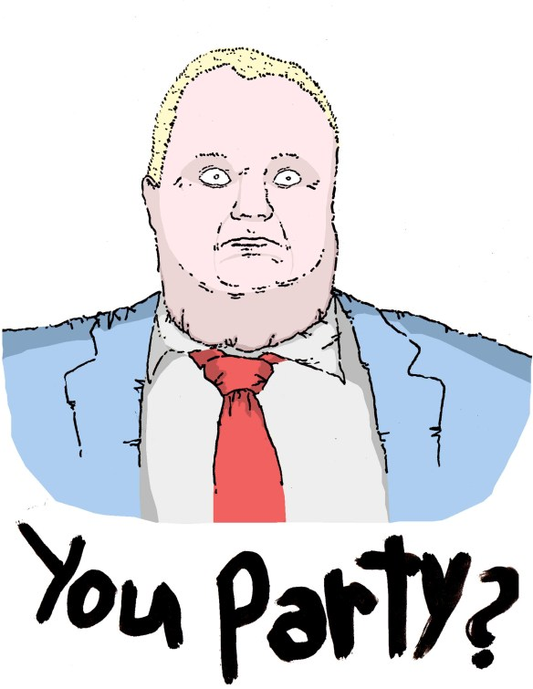 rob ford likes to party