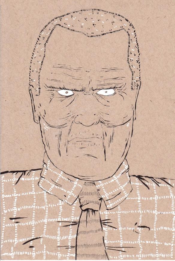 severe old man