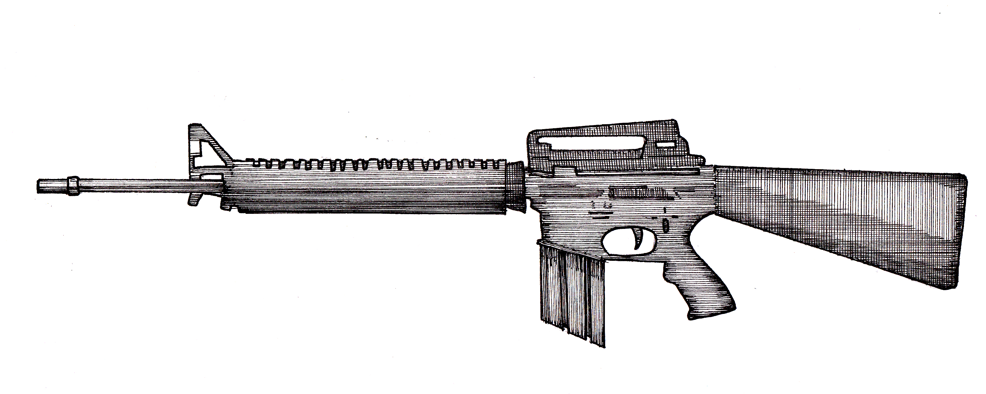 M16 Drawing | www.imgkid.com - The Image Kid Has It! M16