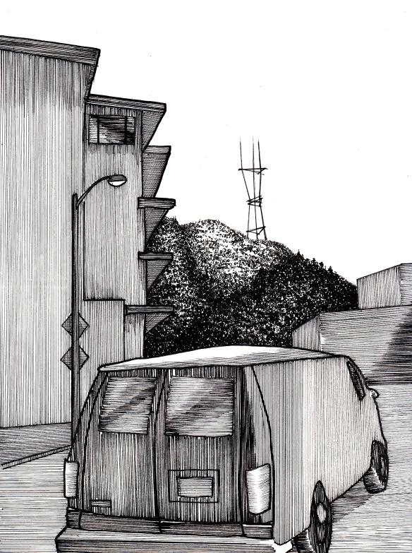 van and sutro tower