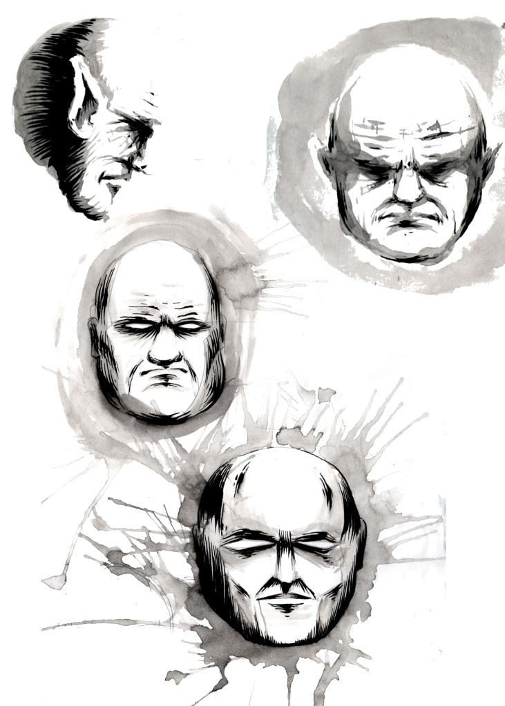 evil faces